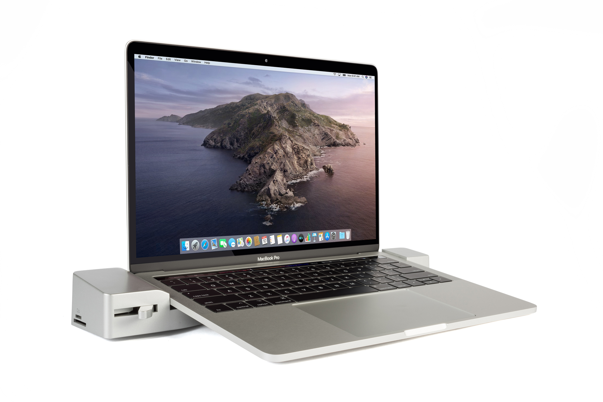 Docking Station for the 13-inch MacBook Pro with Touch Bar and 2 USB Type-C Ports - Front Angled View